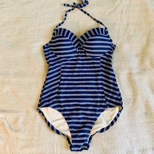 ✨ Merona One Piece Striped Swimsuit